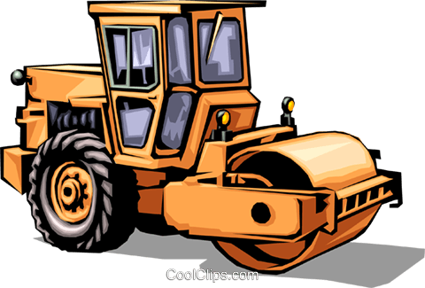 480x325 Steam Roller Royalty Free Vector Clip Art Illustration Indu0036