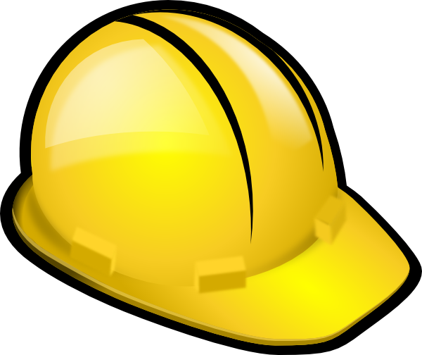 600x504 Yellow Construction Hardhat Clip Art