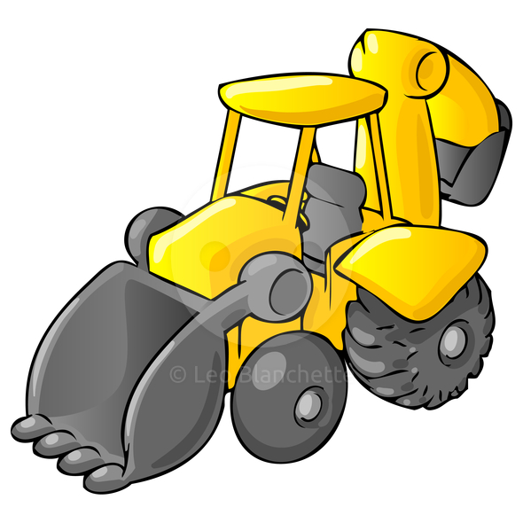 590x590 Cartoon Construction Equipment Clip Art