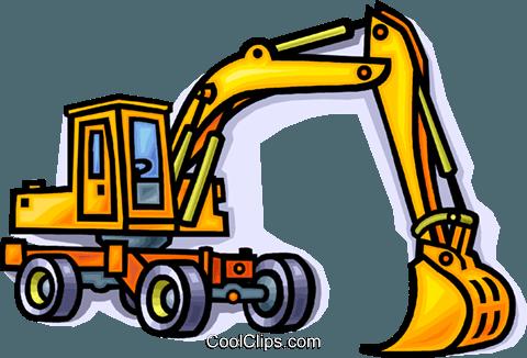 480x326 Construction Equipment, Shovel Royalty Free Vector Clip Art