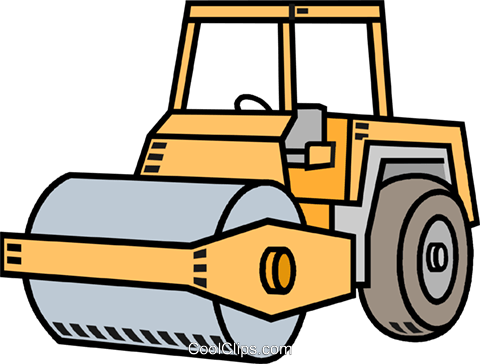 480x364 Steam Roller Royalty Free Vector Clip Art Illustration Vc010586