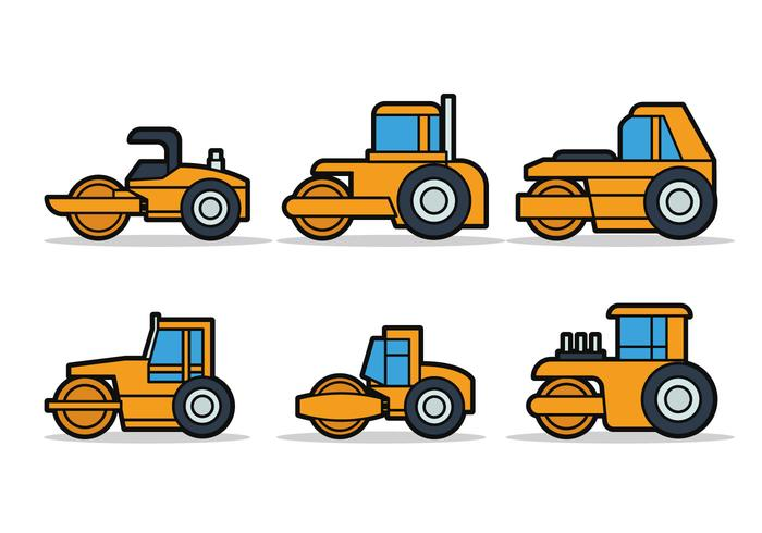 700x490 Steamroller Vector Set