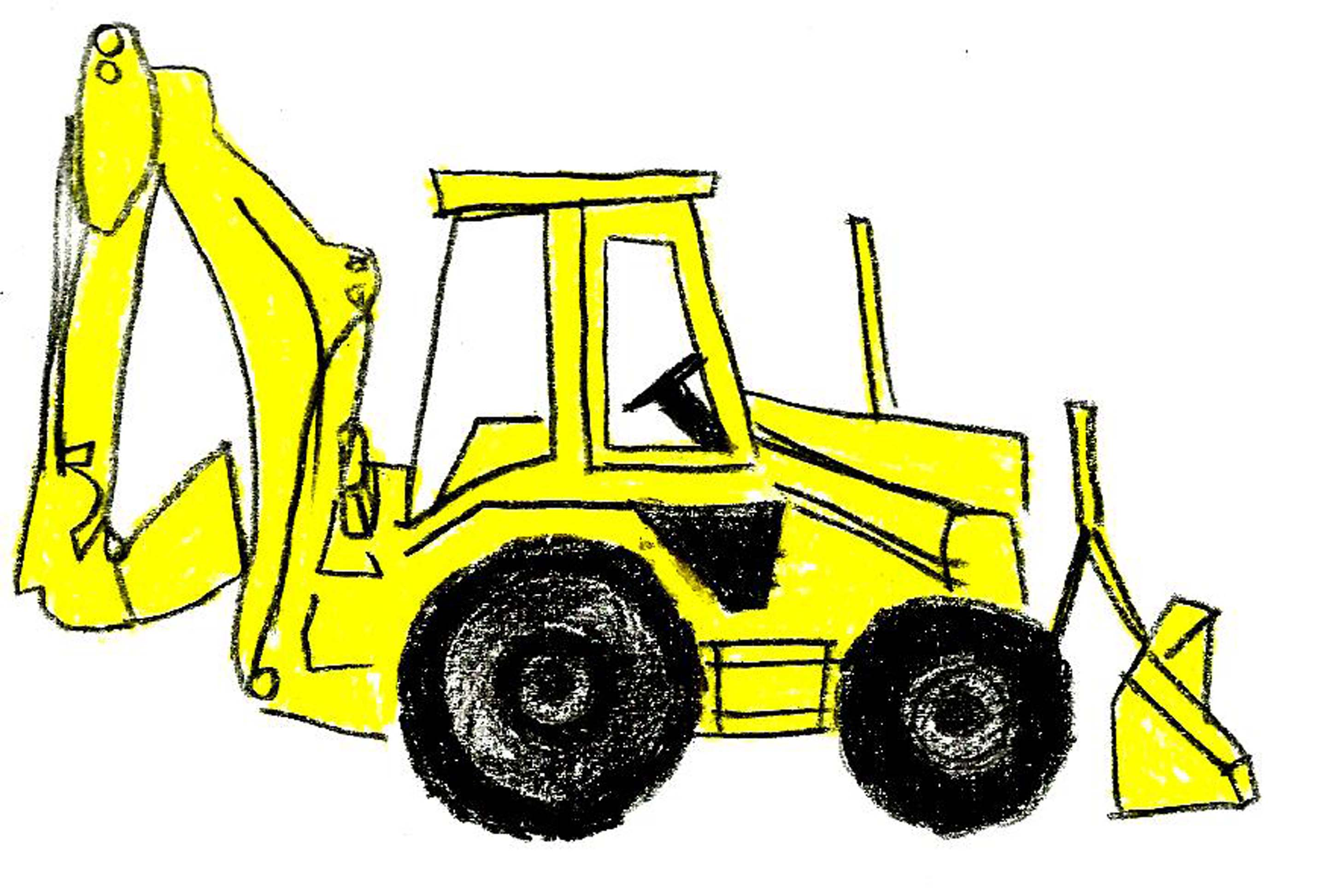 2880x1945 Yellow Clipart Backhoe