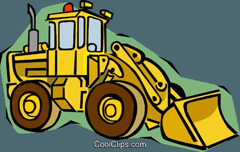 480x304 Front End Loader Royalty Free Vector Clip Art Illustration