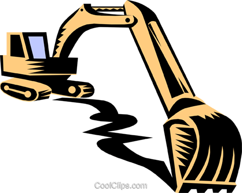 480x384 Heavy Equipmenthigh Hoe Royalty Free Vector Clip Art Illustration