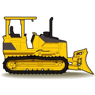 324x324 Bulldozer Caterpillar Equipment Clip Art Dromggi Top Image