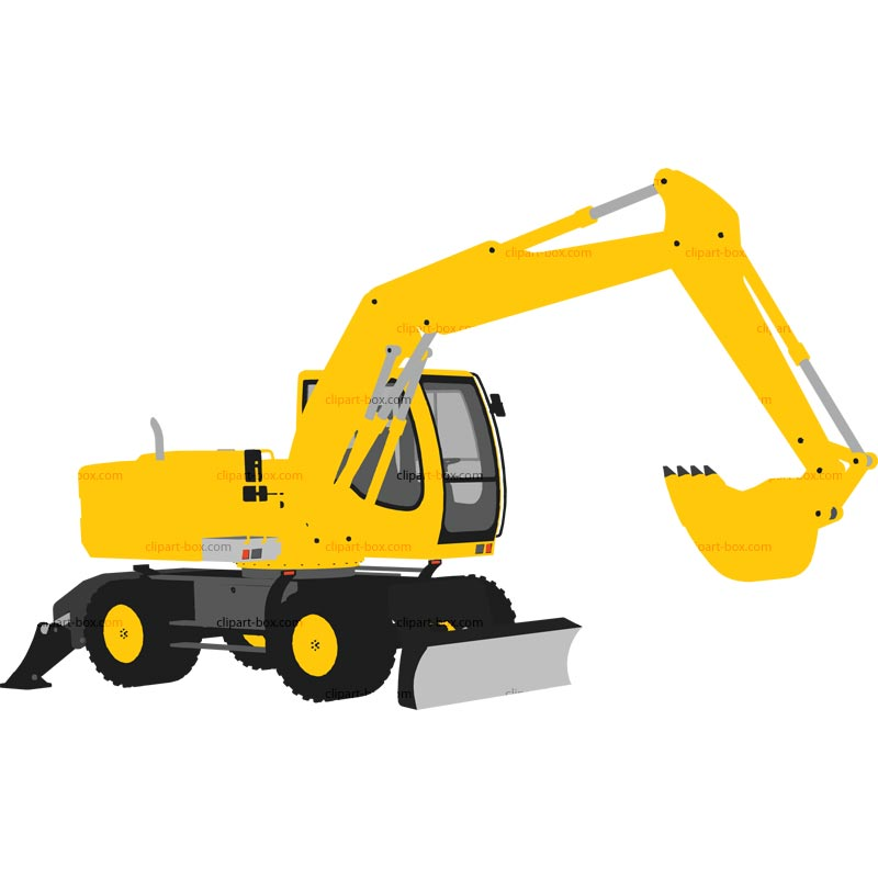 800x800 Clipart Excavator Royalty Free Vector Design Clipart