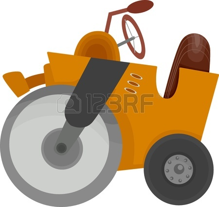 450x425 Cartoon Illustration Of Of A Bulldozer Construction Equipment