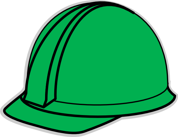 600x462 Green Hard Hat Clip Art