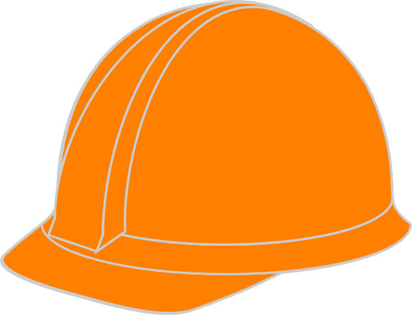 600x459 Orange Hard Hat Clip Art