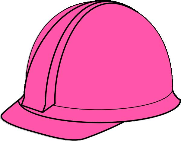 600x466 Pink Hard Hat Clip Art