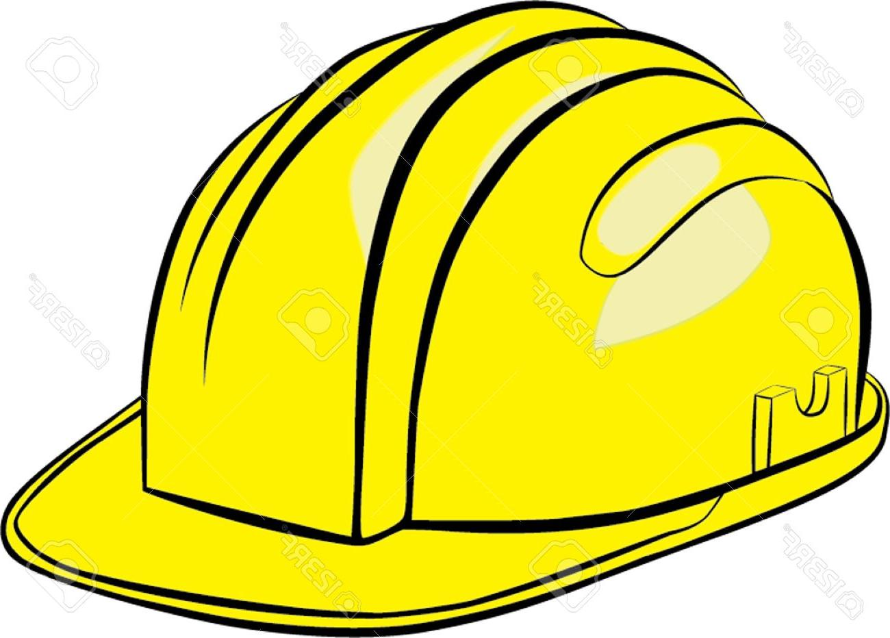 1300x932 Top Construction Helmet Isolated Illustration Stock Vector Hard