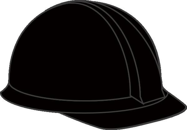 600x419 Black Hard Hat Clip Art