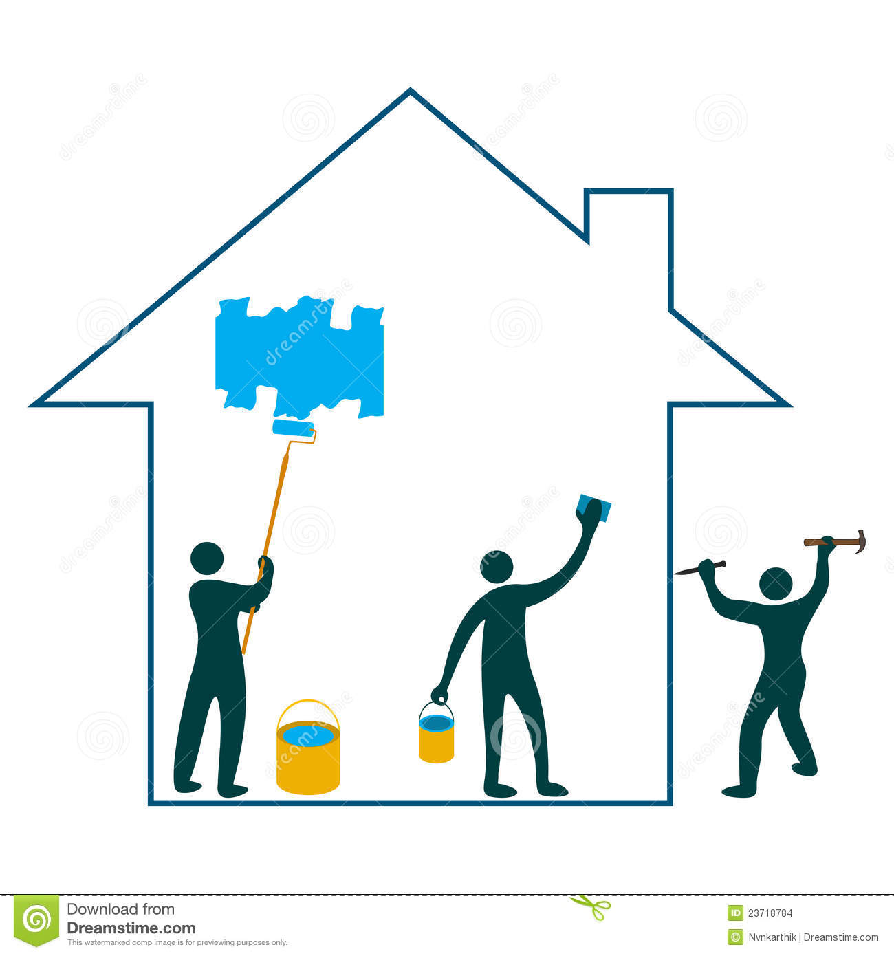 1300x1390 House Painting Logos Clipart