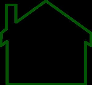 300x279 House Siloete Clip Art