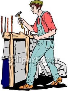 225x300 House Builder Guy Clipart
