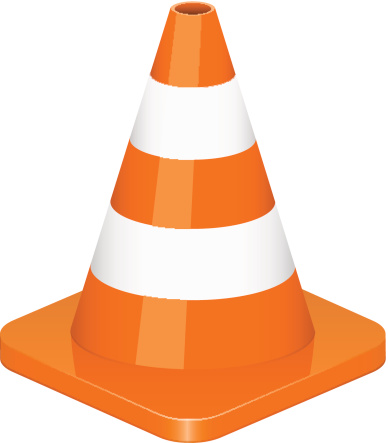 388x443 Cone Clipart Construction Sign