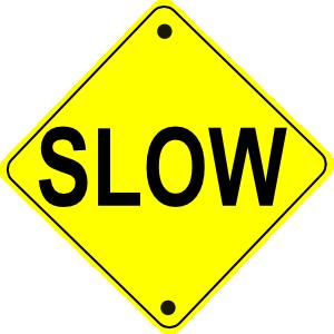 300x300 Slow Road Sign Clip Art