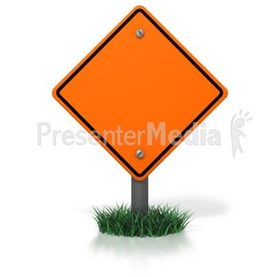 400x400 Blank Construction Sign