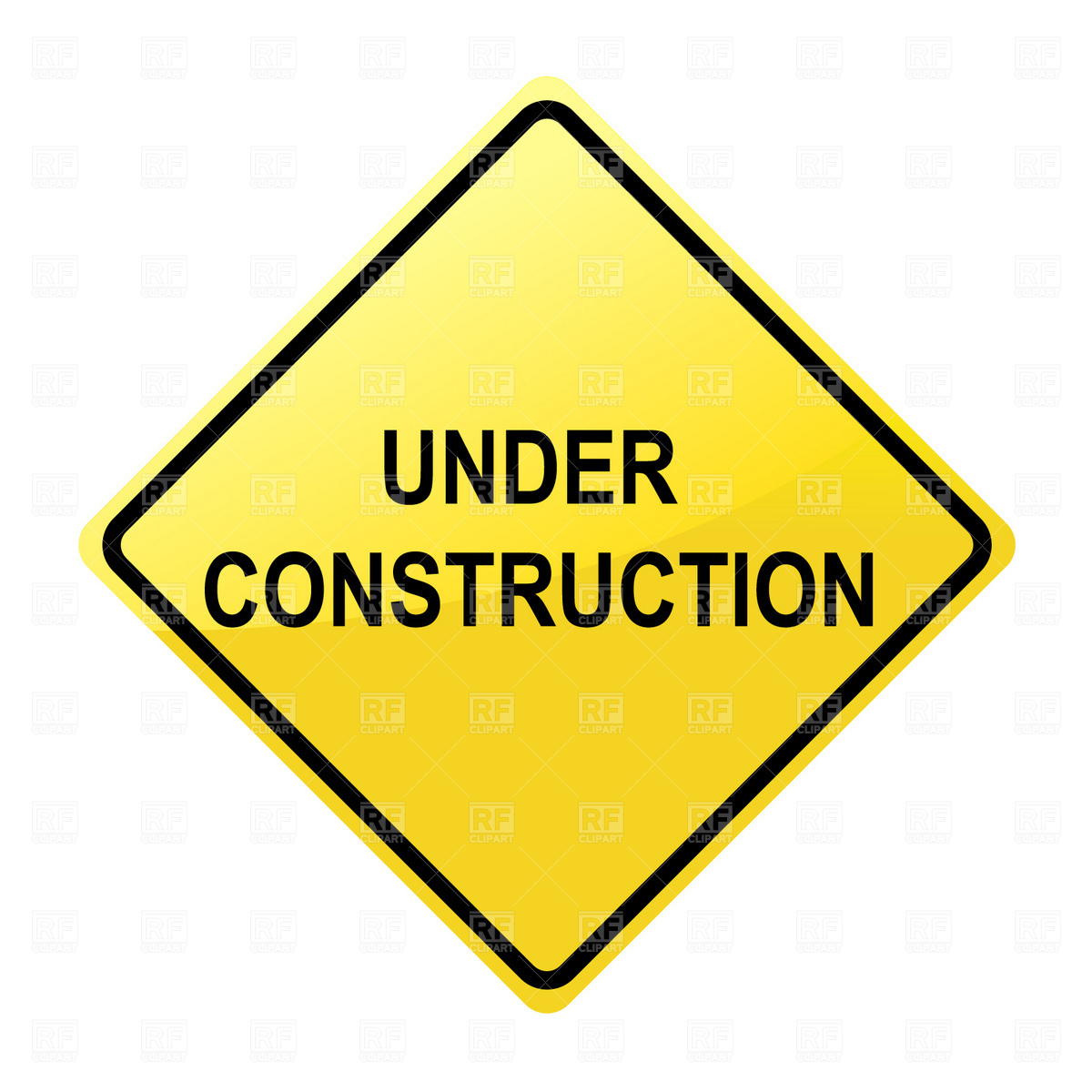 1200x1200 Under Construction Sign Free Vector Clip Art Image