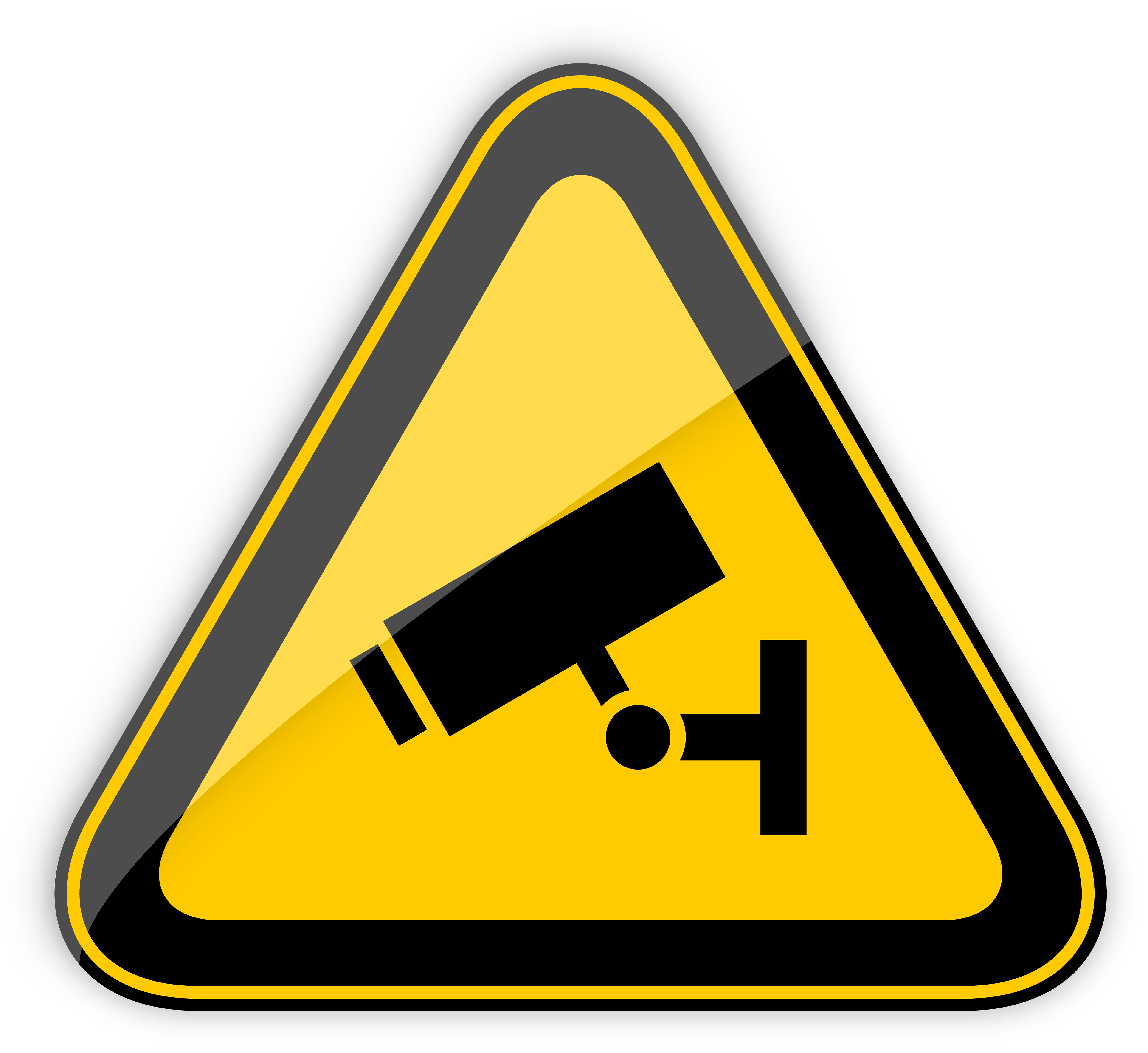 5000x4584 Cctv In Operation Warning Sign Png Clipart