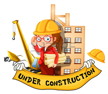 450x389 Engineers Working At The Construction Site Illustration Royalty