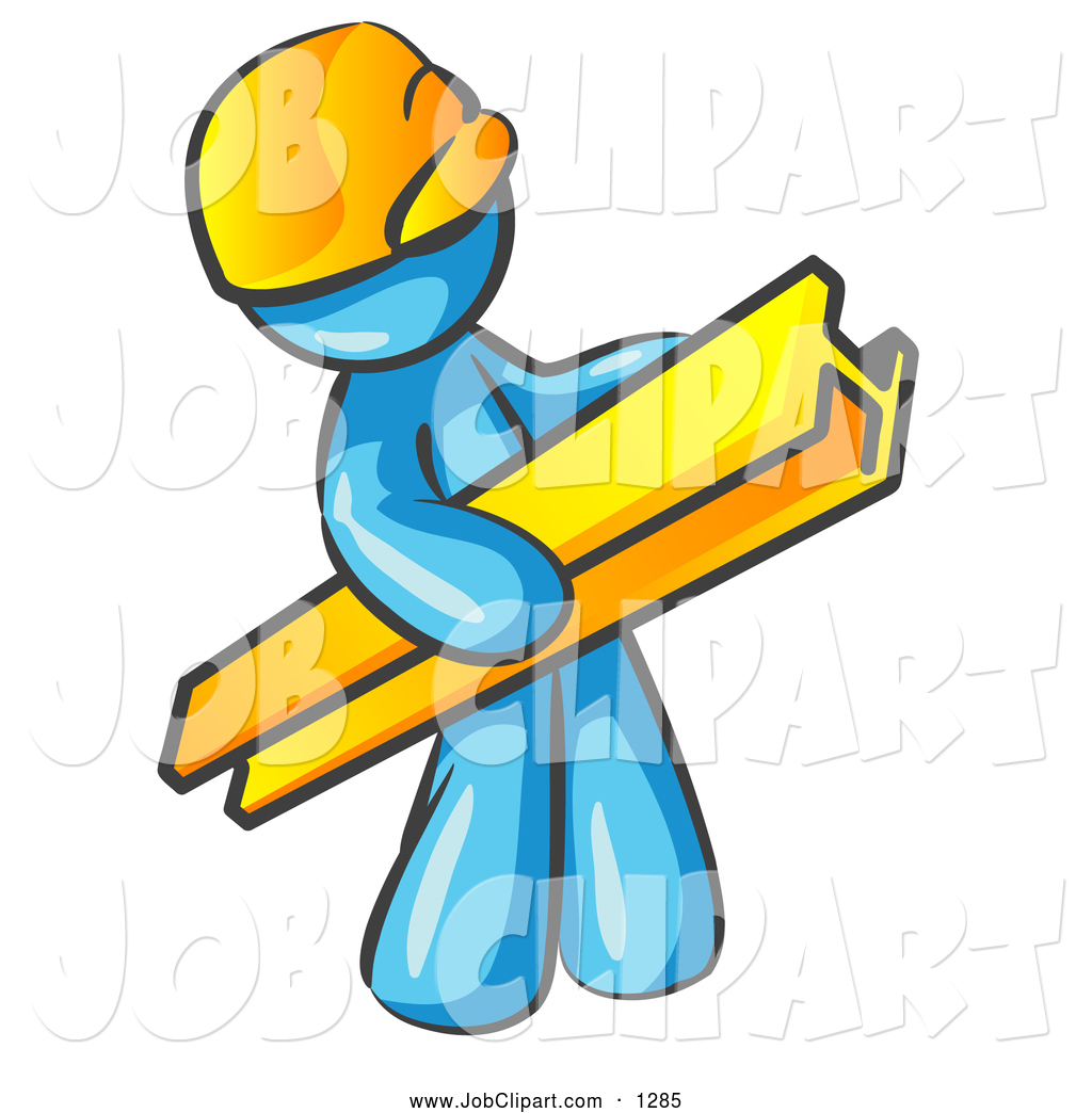 1024x1044 Job Clip Art Of A Light Blue Construction Worker Wearing A Hardhat