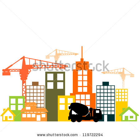 450x443 City Construction Site Clipart