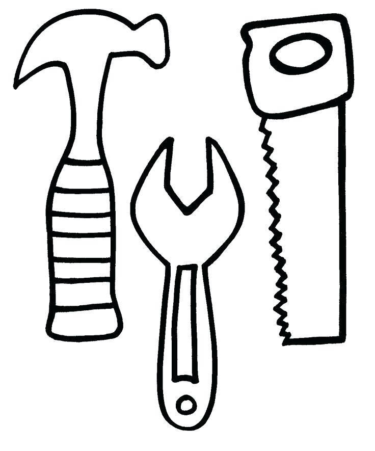 736x885 Hand Tool Coloring Pages Free Printable Construction Tools