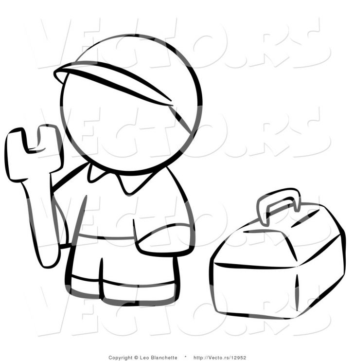 728x742 Ideas Construction Tools Coloring Pages For Kidss For Kids