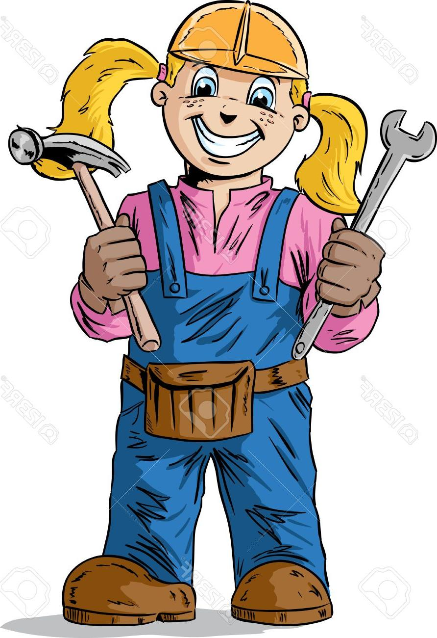 892x1300 Best Hd Girl Construction Worker Vector Pictures Free Vector Art