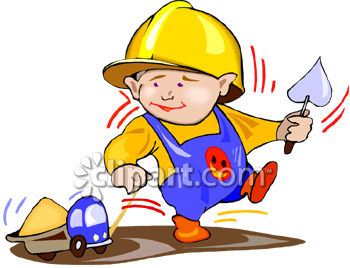 350x268 Royalty Free Clip Art Image Toddler Boy Playing Construction Worker