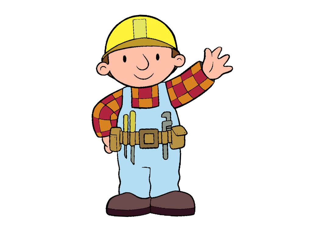 1024x768 Bob Construction Worker Clipart