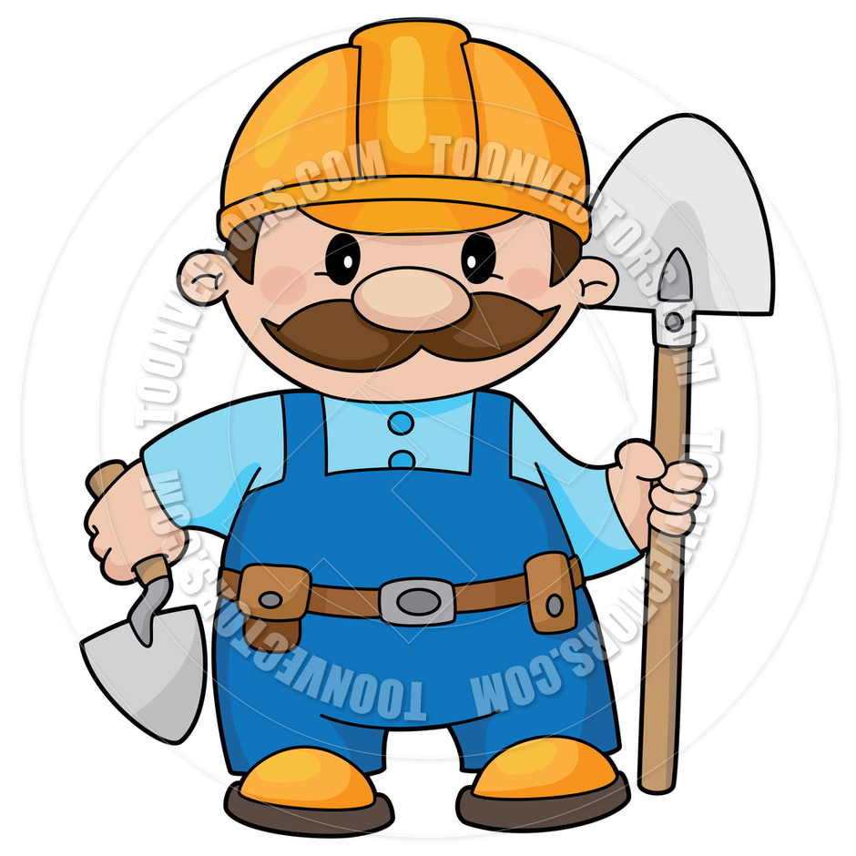 940x940 Cartoon Construction Worker Clipart