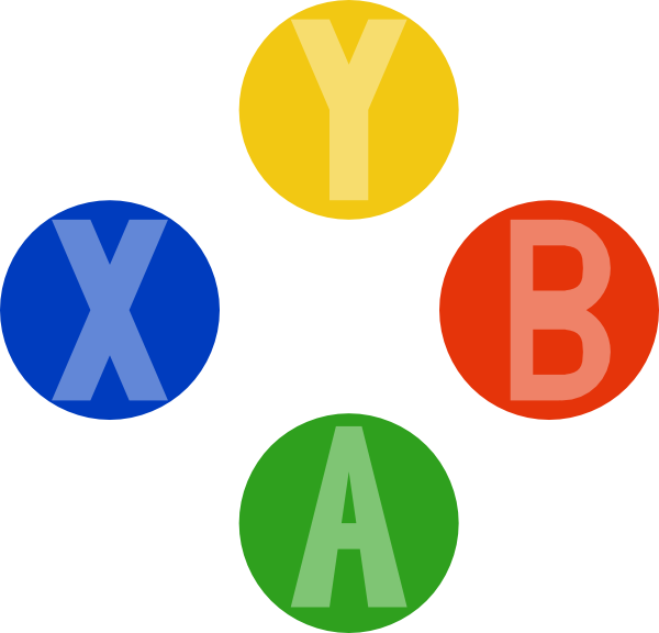 600x576 Xbox Controller Buttons Png, Svg Clip Art For Web