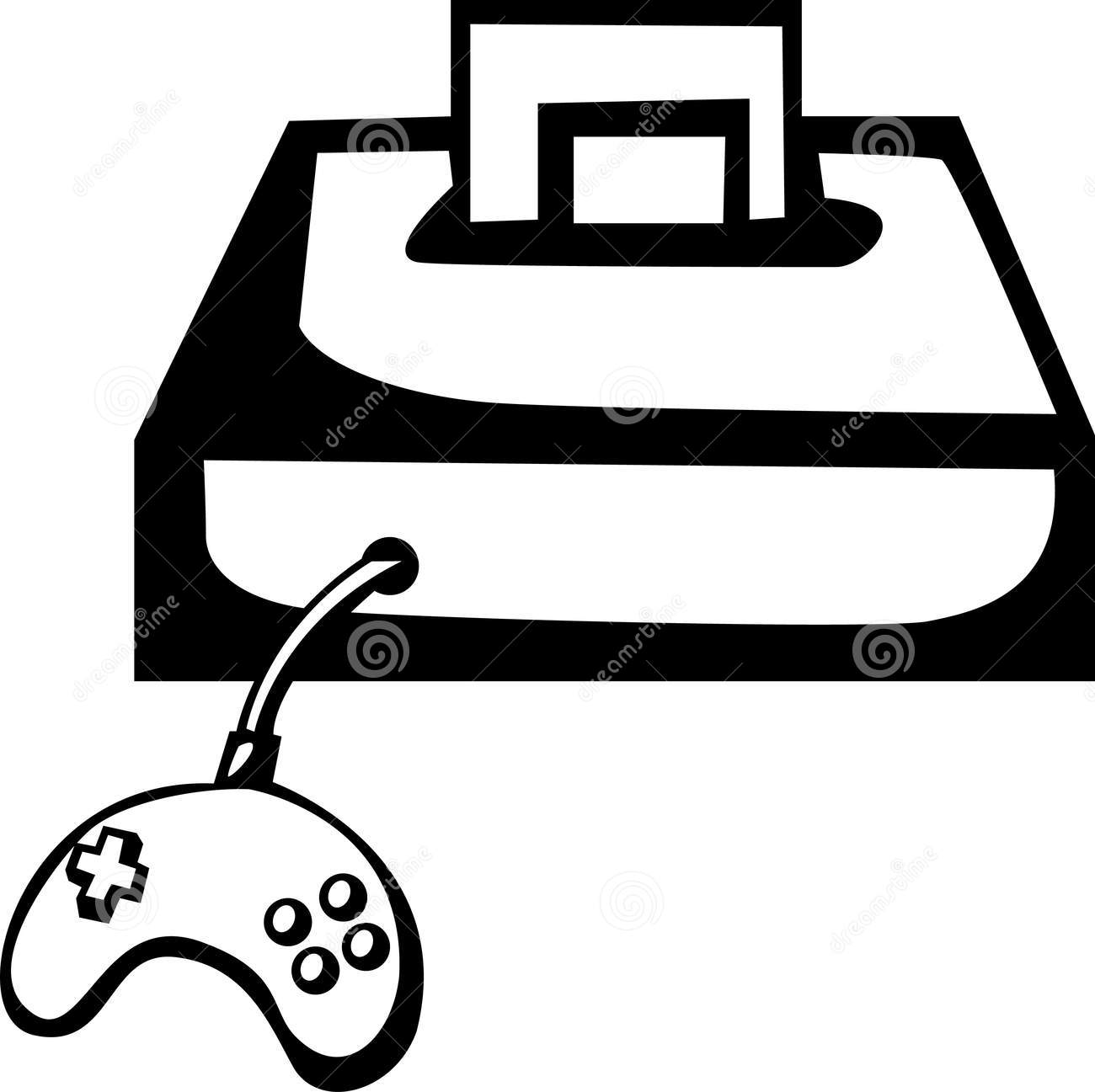 1300x1297 Controller Clipart Black And White