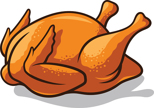 496x348 Cooked Chicken Clipart