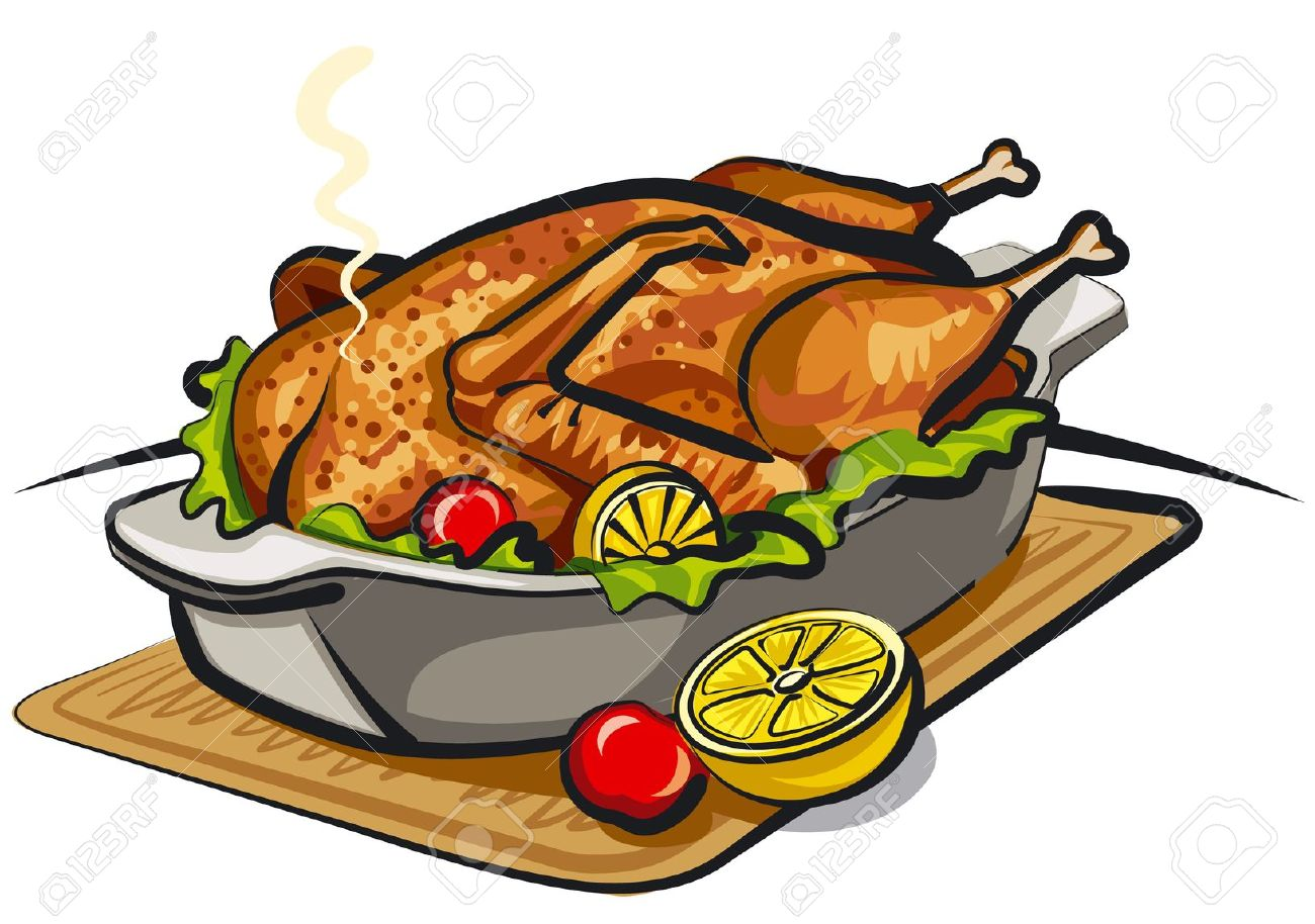 1300x914 Cooked Chicken Clipart
