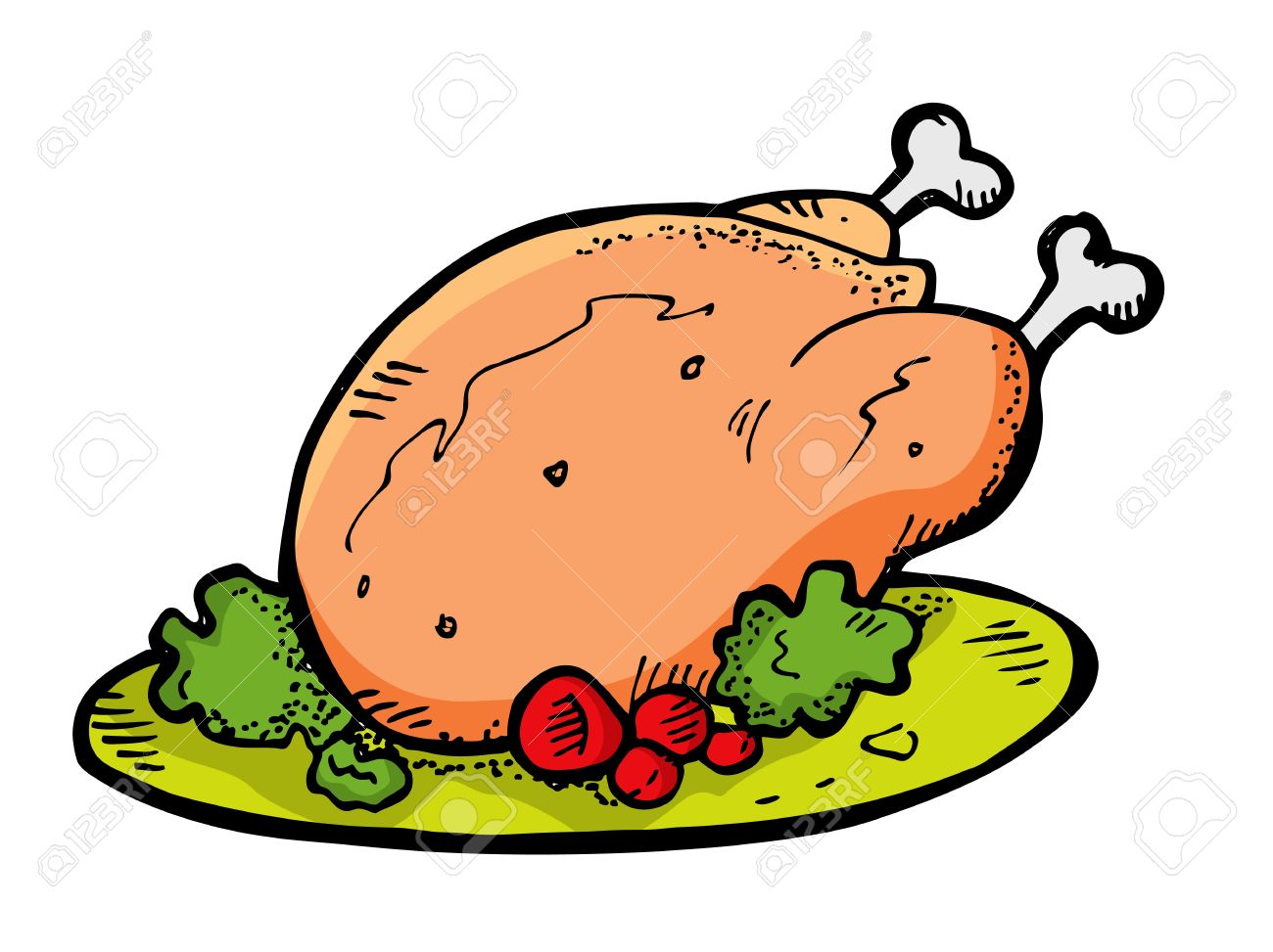 1300x973 Chick Clipart Roasted Chicken