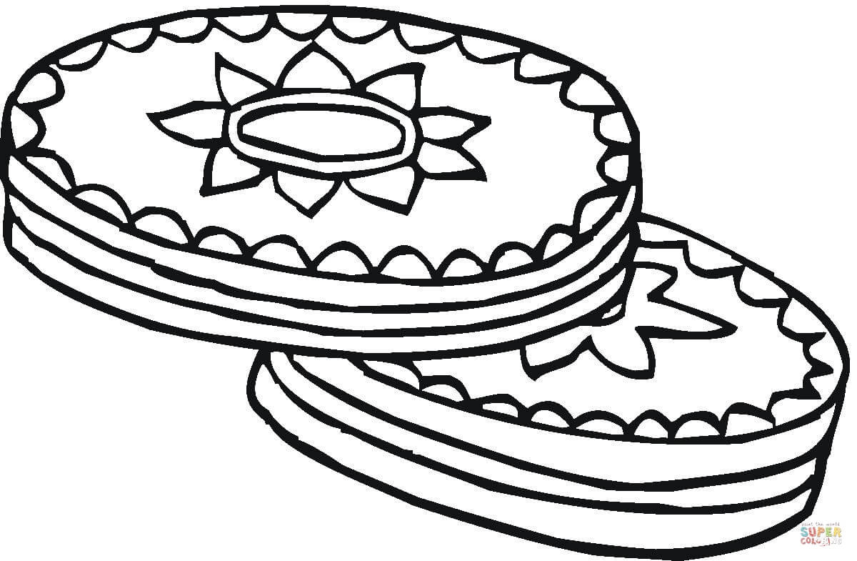 1200x785 Cookies With Chocolate Top Coloring Page Free Printable Coloring