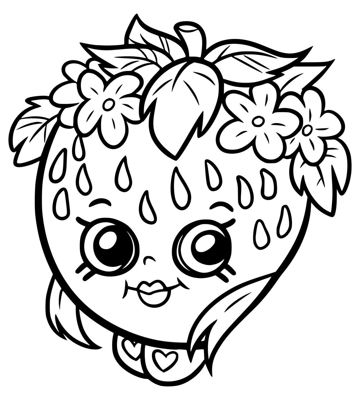 1240x1359 Cute Shopkins Coloring Page