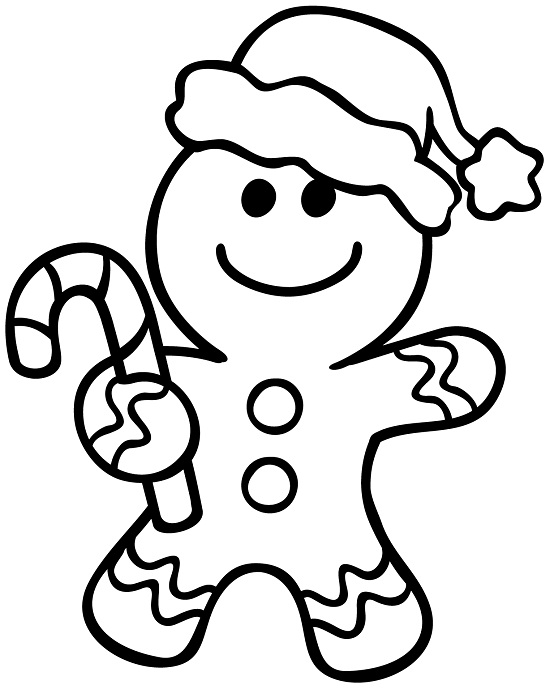550x689 Gingerbread Cookie Coloring Page Murderthestout