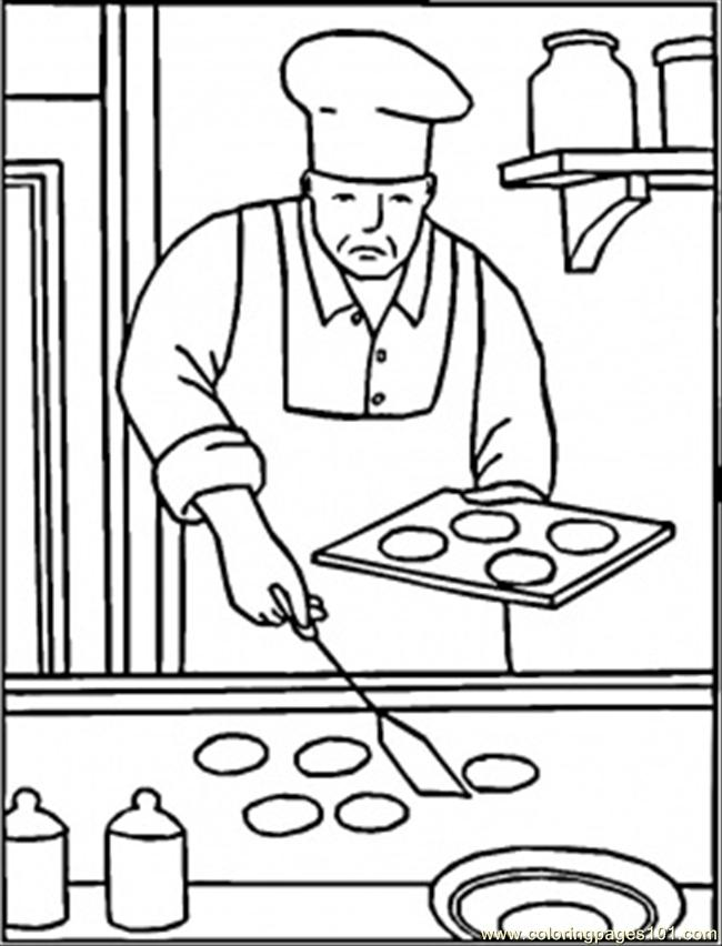 650x852 Baking Cookies Coloring Page