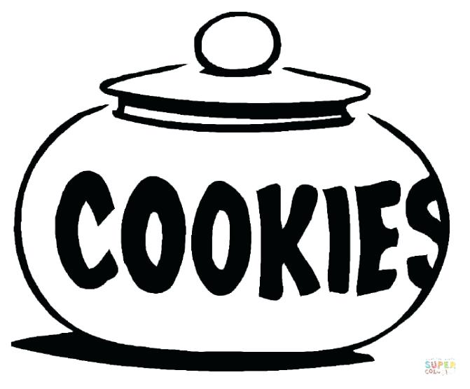 671x555 Chocolate Chip Cookie Coloring Page