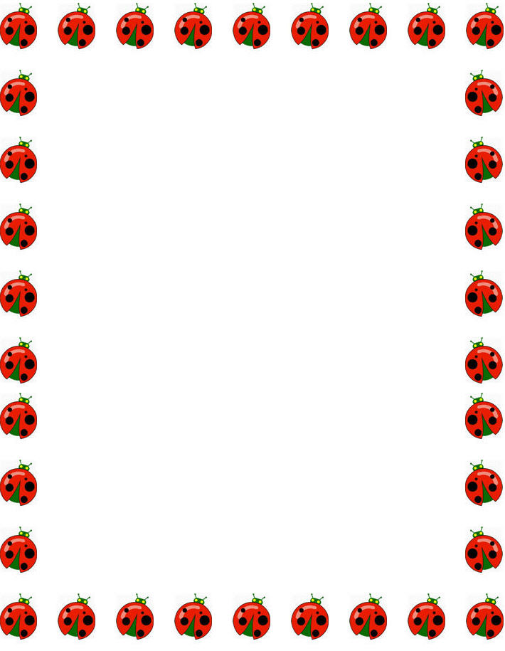 710x915 Frame Clipart Ladybug