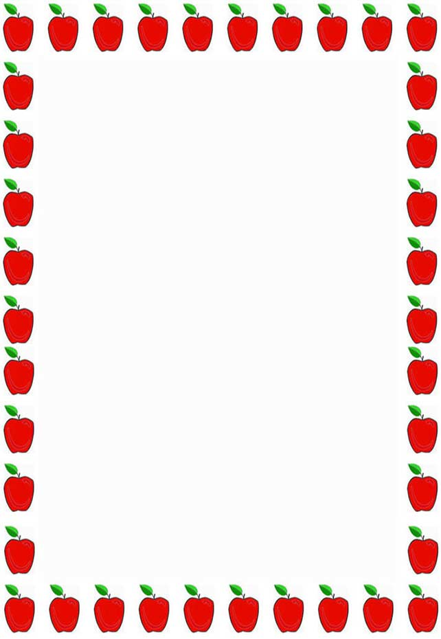 642x930 Apple Borders And Frames Clipart