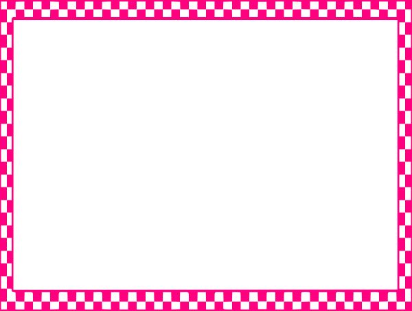 600x453 Pink Checkerboard Frame Clip Art