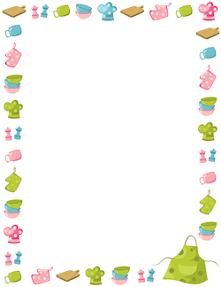 250x324 A Page Border Featuring Chocolate Candy. Free Downloads