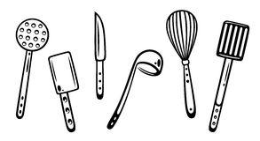 293x160 Kitchen Delightful Kitchen Utensils Clipart Black And White Clip