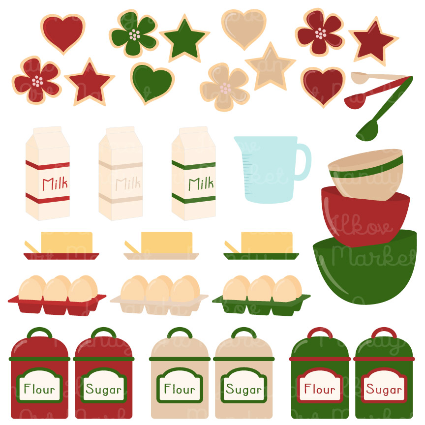 864x864 Christmas Baking Clipart